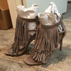 Steve Madden fringe high heels